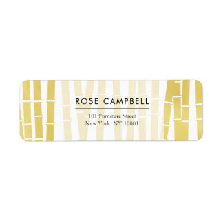 Modern Gold Bamboo Grove Return Address Label