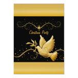 "Modern gold black Christmas christian template 5"" X 7"" Invitation Card"