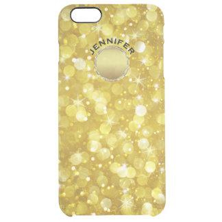 Modern Gold Bokeh Glitter Clear iPhone 6 Plus Case