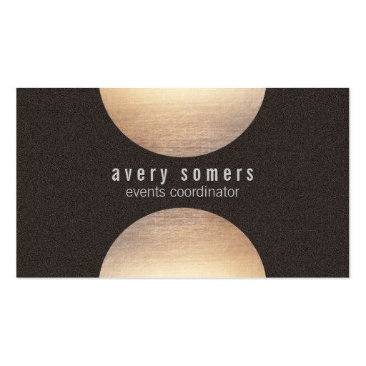 Modern Gold Circle Suede Look Business Card Templates