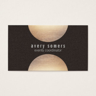 Modern Gold Circle Suede Look Business Card