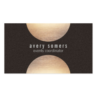 Modern Gold Circle Suede Look Pack Of Standard Business Cards