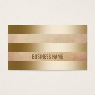 Modern Gold Foil Stripes Business Card