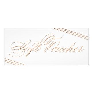 Modern Gold Gift Voucher 50  for Photography Rack Card