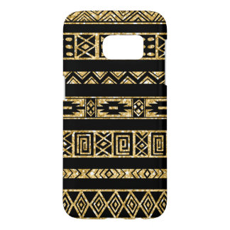 Modern Gold Glitter And Black Tribal Samsung Galaxy S7 Case