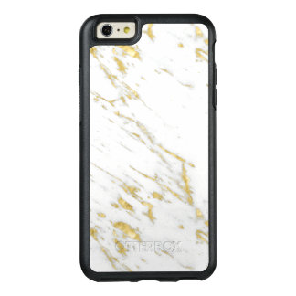 Modern Gold Glitter On White Marble Stone OtterBox iPhone 6/6s Plus Case