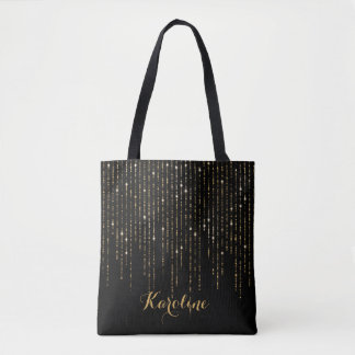 Modern Gold  Glitter  Personalized Tote Bag