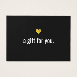 Modern Gold Heart Customer Gift Certificate