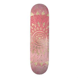 Modern  gold mandala skateboard