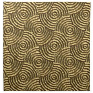 Modern Gold Metal Spirals Napkin