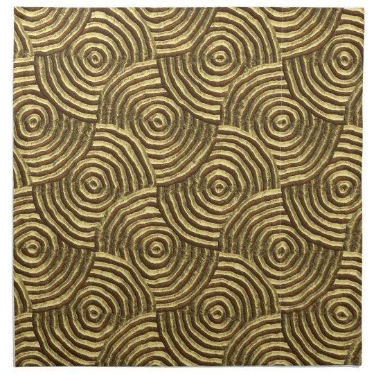 Modern Gold Metal Spirals Napkins