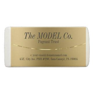 Modern Gold Metallic Look Eraser