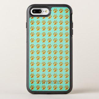 Modern gold paws OtterBox symmetry iPhone 8 plus/7 plus case
