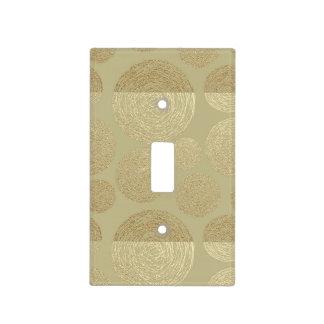 modern, gold,polka dots, metallic,elegant,chic,han light switch cover