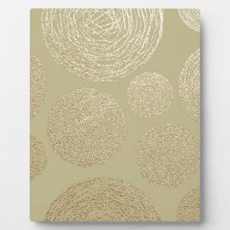modern, gold,polka dots, metallic,elegant,chic, plaque