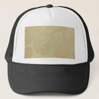 modern, gold,polka dots, metallic,elegant,chic, trucker hat