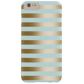 Modern Gold Stripes Barely There iPhone 6 Plus Case