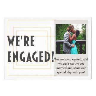 Modern Gold Wedding Engagement Announcement