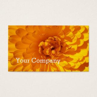 Modern Golden Yellow Marigold Flower Business Card