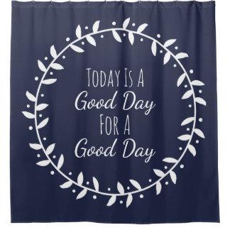 Modern Good Day Saying White Leafy Wreath