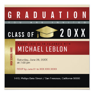modern grad invite for student guests