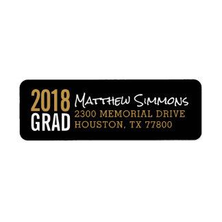 Modern Grad Personalized Return Address