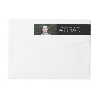 Modern Grad Wrap Around Label