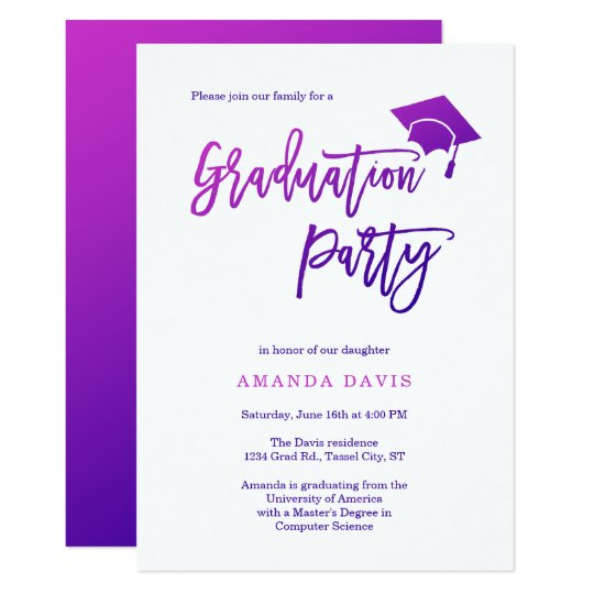 Modern Gradient Graduation Invitation
