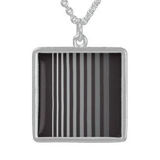 Modern gradient gray designer stripes custom jewelry