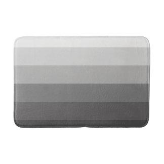 Modern Gradient Gray Stripes Bath Mat