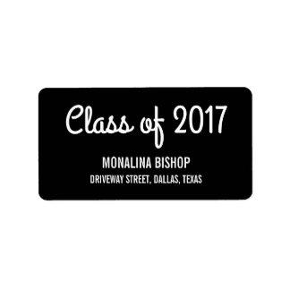 Modern Graduate Class Of 2017 Typography Black