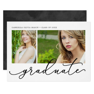 Modern Graduate Graduation Party Card