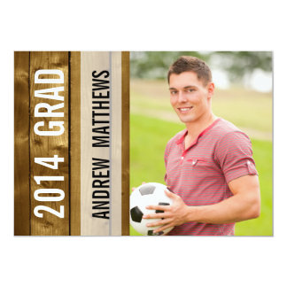"Modern Graduate Party Photo 5"" X 7"" Invitation Card"
