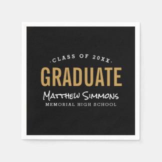 Modern Graduate Personalized Graduation Party Disposable Napkins
