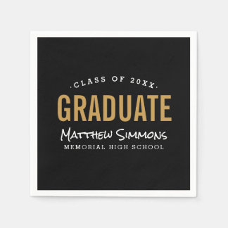 Modern Graduate Personalized Graduation Party Paper Napkin