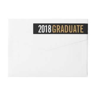 Modern Graduate Personalized Return Address Wrap Around Label