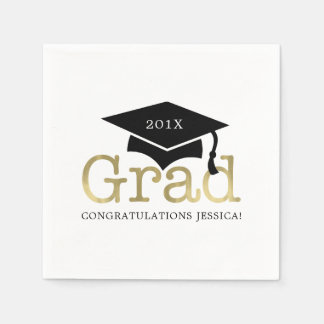 Modern Graduation Disposable Napkins