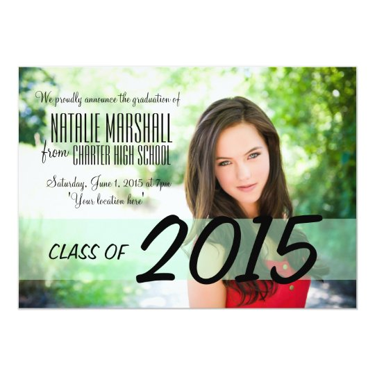 Modern Graduation Party Announcement Invite