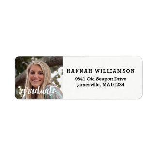 Modern Graduation Photo Return Address Labels