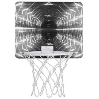 Modern Graphic Abstract Cool Glowing Vortex, Mini Basketball Backboard