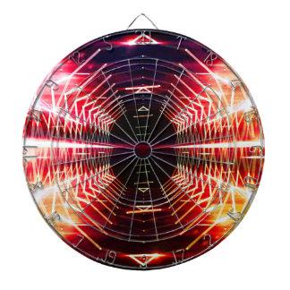 Modern Graphic Abstract Glowing Vortex, Inferno Dart Board