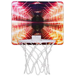 Modern Graphic Abstract Glowing Vortex, Inferno Mini Basketball Backboard