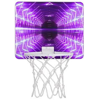 Modern Graphic Abstract Glowing Vortex, Purple Mini Basketball Hoop