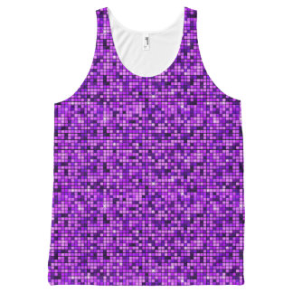 Modern Graphic Block Pattern, Lavender - All-Over-Print Tank Top