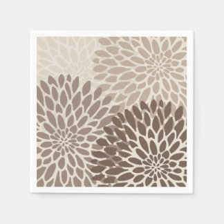 Modern Graphic Chrysanthemums Disposable Napkin