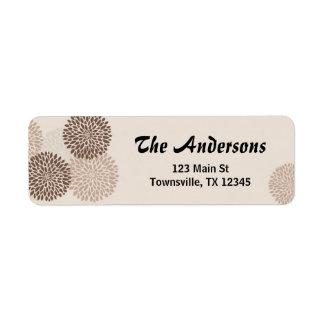 Modern Graphic Chrysanthemums Label 2