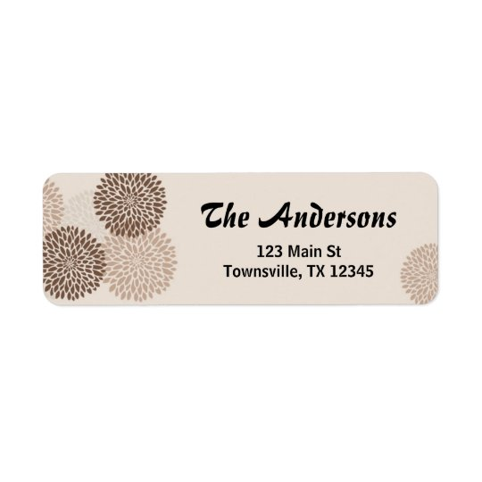 Modern Graphic Chrysanthemums Label 2