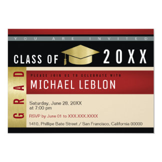 modern graphic concept graduation . grad party card