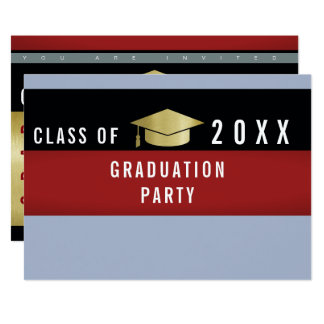 modern graphic concept graduation / grad party card