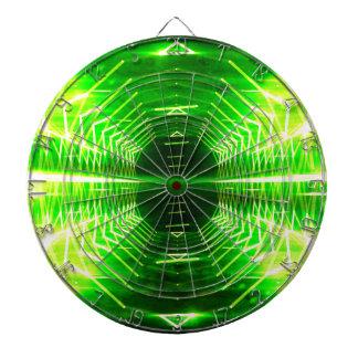 Modern Graphic Cool Glowing Vortex, Neon Green Dart Boards